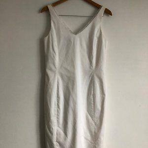 Jones New York Signature White Midi Dress